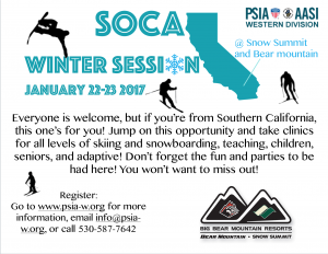Socal Winter Session @ Snow Summit/Bear Mountain